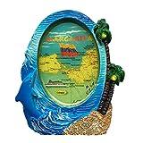 Imán de resina de Margarita Island Venezuela 3D fuerte para nevera, regalo turístico, imán chino hecho a mano, creativo, decoración del hogar y la cocina, etiqueta magnética