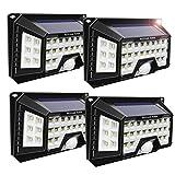 Active Era® Luce Solare LED da Esterno - Luce di sicurezza con sensore di movimento a 42x LED ultra luminose per esterni-Impermeabile (confezione da 4)