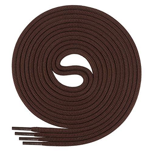 Di Ficchiano Schnürsenkel, Rundsenkel für Business- und Lederschuhe, reißfester Allroundsenkel, ø 3mm Farbe braun Länge 120cm