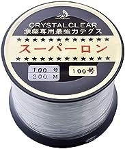 [ テグス・釣り糸 ]ボビン巻ナイロンテグス100号/200m/透明
