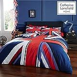 Catherine Lansfield Union Jack Parure pour Couette, Polycoton, Multicolore, Double