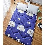 YUMUO Japanese Futon Tatami Floor Mat, Not-Slip Folding Sleeping Pad Breathable Futon Mattress Topper for Indoor Outdoor -e Twin