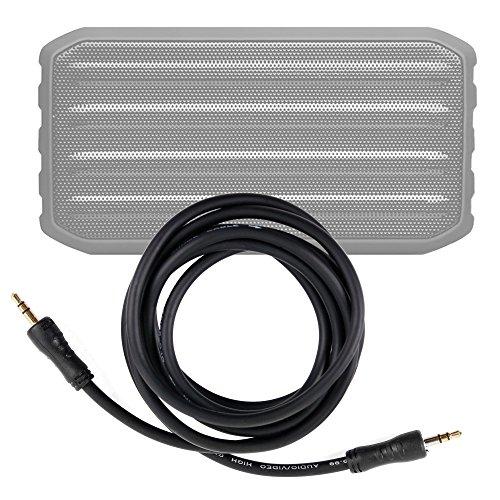 DURAGADGET Cable De Audio para Altavoz inalámbrico Techvilla S01 - Entrada de 3.5mm Y Bañado En Oro