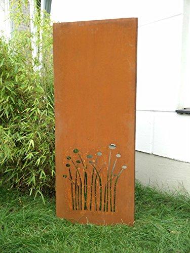 Garteninspiration Sichtschutz aus Naturrost