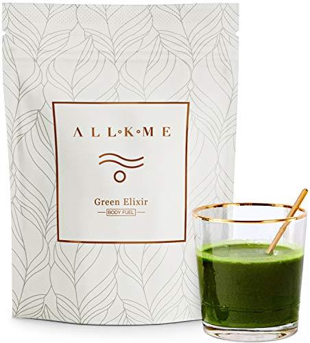 Super greens en Superfood poeder - Green Drink: groene thee, erwtenproteïne, psyllium, spirulina chlorella, aloë vera, kurkuma, tarwegras - detoxdrank met probiotica voor volwassenen