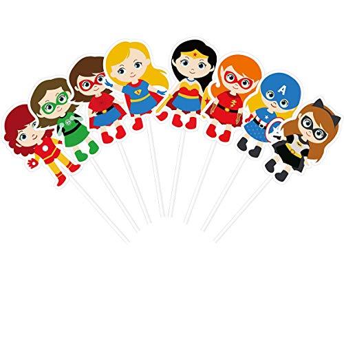 KUDES 24 Pieces Cartoon Superhero Avengers Cupcake...