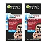 Garnier - SkinActive - Pure Active - Masque Peel-Off Anti-Points Noirs - Peaux Grasses à Imperfections - Lot de 2 x 50 ml