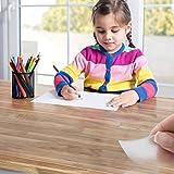 Tischfolie in vielen Größen   Tischdecke transparent und abwaschbar   schützt Ihren Tisch vor Schmutz und Kratzern   Schutzfolie/Tischschoner 100×200 cm - 3