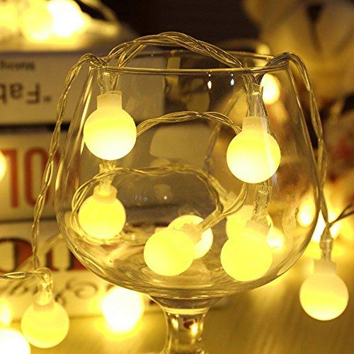 ELINKUME Blanc Chaud LED Guirlande S'allume à 1,2 m Longueur 40 LEDs Ampoules Guirlande Lumineuse Puissance de la Batterie Belle Décoration pour Arbres de Noël,Jardin, Patio, Mariage, Fête et Vacances