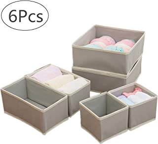 Sujetadores Bufandas y Corbatas Calcetines Caja de Almacenamiento Plegable para Ropa Interior Juego de 4 Color Gris Kit de separadores de cajones VLikeze Organizador de Ropa Interior pa/ñuelos