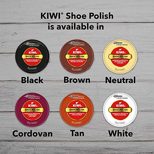 KIWI Shoe Polish, Neutral, 1.125 oz (1 Metal Tin)
