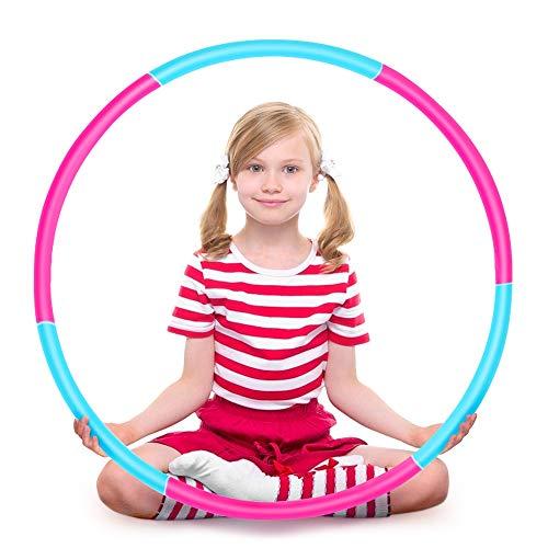 Ertisa Hoola Hoop für Kinder, Einstellbares Gewicht Hoola Hoop und größe Adjustable abnehmbare Sport Spielzeug, geeignet für Fitness, Gymnastik, Tanz