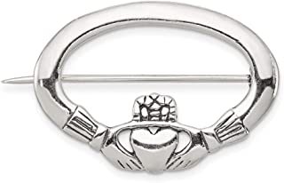 925 Sterling Silver Irish Claddagh Celtic Knot Pin Necklace Pendant Charm Fine Jewelry Gifts For Women For Her