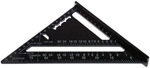 JUST N1 7inch Aluminum Alloy Triangle Ruler Angle Ruler Protractor Trammel Woodworking Measurement Tool for Engineer Carpe...