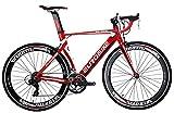 Eurobike - Vélo de route XC7000, 14 vitesses, cadre en aluminium léger 700C, Red