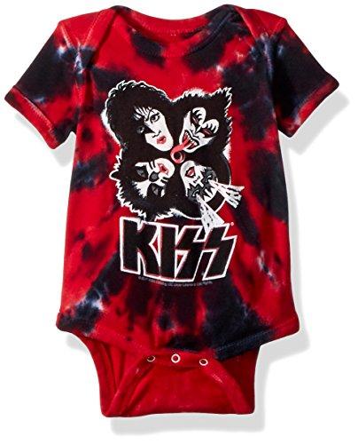 Liquid Blue baby boys Kiss Faces Burst Onesie T Shirt, Tie/Dye, 0-6 Months US