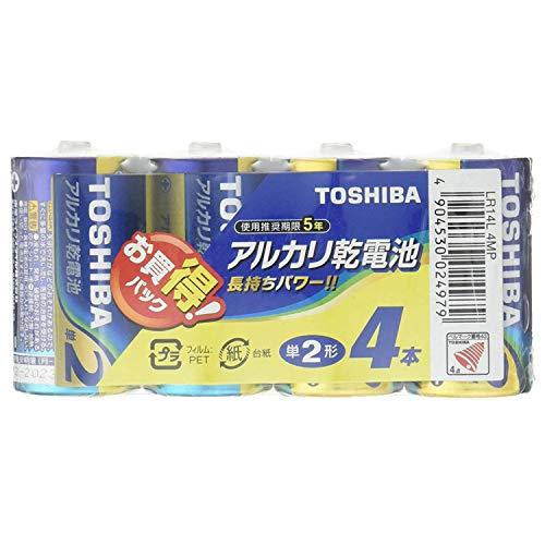 東芝 アルカリ乾電池 単2形1パック4本入 LR14L 4MP