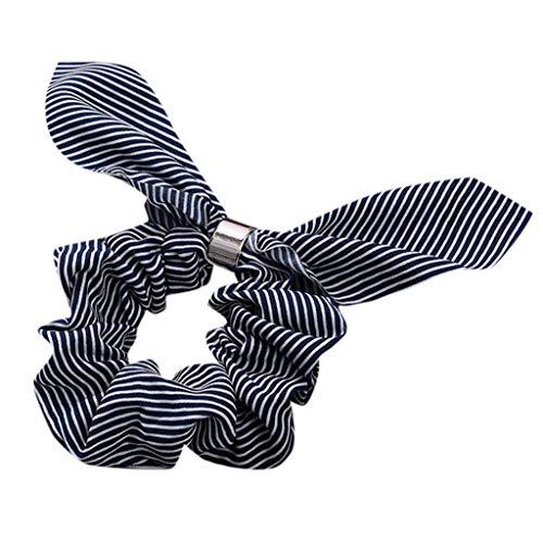 Dorical Hasenohren Haarband Zubehör für Frauen Mädchen Elegante Elastische Süß Haarbänder Vintage Schachtelhalm Halter Seil Haarschmuck Ausverkauf(Schwarz)