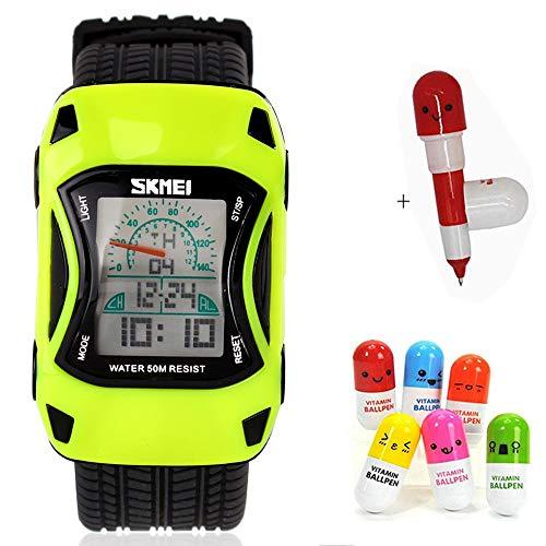 Reloj Deportivo Digital para niños, Resistente al Agua, con Alarma, para niños, niñas, Regalo LED, Reloj de Silicona para niños