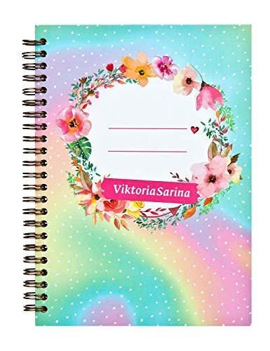 Undercover VSIN0594.Z Notizbuch im Viktoria Sarina Design, DIN A5, mit Spiralbindung,...