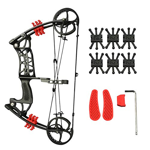 ZSHJGJR Archery Compound Bow Catapult Hunting Dual-Purpose Bow 30-55lbs Catapult Steel Ball Compound Bow for Adult Outdoor Hunting Fishing Right Left Hand