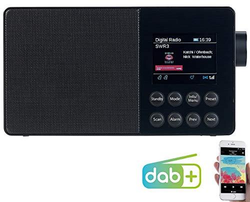 VR-Radio DAB Radio mobil: Mobiles Akku-Digitalradio mit DAB+, FM, Bluetooth & Farbdisplay, 6 W (DAB Radio Akku Bluetooth)