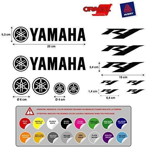 Aufkleber Aufkleber Aufkleber aufkleber Aufkleber Aufkleber autocollants Yamaha R1 Vinyl Stanzen hochwertig Motorrad 5 a 7 años 13 Einheiten 16 Farben verfügbar