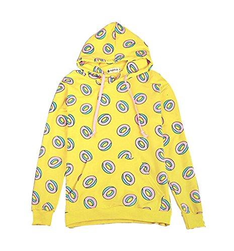 Newhe GOT7 Doughnut Hoodie Just Right The Same Style Mark Jackson Youngjae JB Sweater Sweatershirt, Yellow, XX-Large