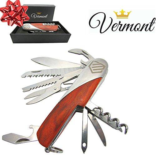 13 Function Stainless Steel Folding Pocket Knife