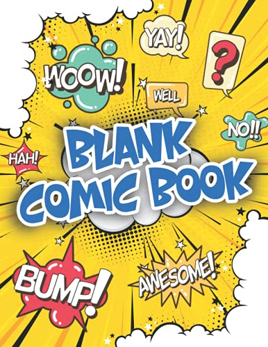 Blank Comic Book: Create Your Own Comics - Collection Album for Kids...