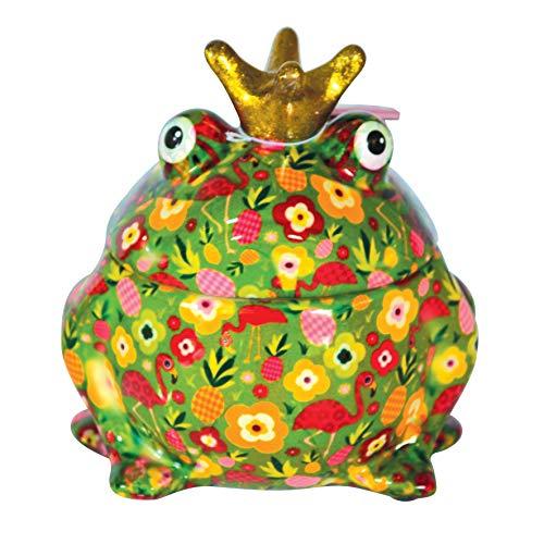Pomme Pidou - Bote para galletas (15 x 16 cm, cerámica), diseño de rana