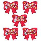 モノココロ Happy Birthday 赤いリボン型 シール 100枚入