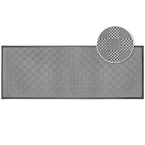 douceur d'intérieur tapis rectangle 45x120 cm pvc simeo taupe