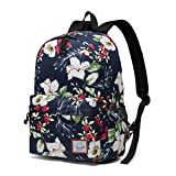 Backpack for Women,VASCHY Water Resistant High School Girls Bookbag Travel Backpack for Teens with Water Bottle Pockets