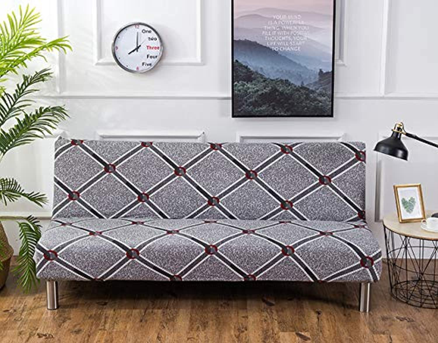 Universal Sofa Cover Stretch Big Elasticity Couch Cover Sofa Furniture Sofa Cover Without Armrest Folding Cover for Sofa Bed 1pc   06, Big Size