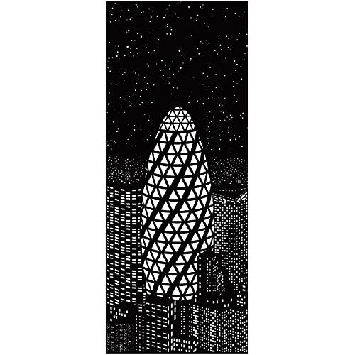 Ihåligt gardintyg antiviolett värmeisoleringsgardiner Kompletta mörkläggningsgardiner Svart och vitt stadsgardiner Inomhus mörkläggningsgardiner 7,0 x 3,5 fot