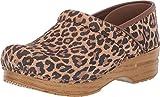 Dansko Women's Professional Leopard Suede Clog 7.5-8 M US