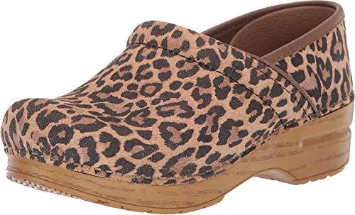 Dansko Women's Professional Leopard Suede Clog 8.5-9 M US