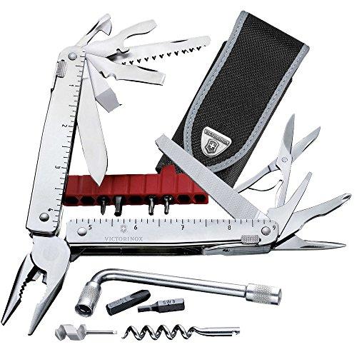 Victorinox Multifunktionswerkzeug SwissTool X Plus (37 Funktionen, Etui, Bit-Schlüssel) silber