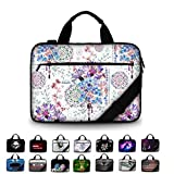 Funky Planet 15' 15.6' inch Shoulder Laptop Messenger Solid Strong Canvas Sleeve Case Bag Briefcases Compatible with Dell Lenovo Samsung Asus Computer Tablet or Ipad (Canvas Oriental Purple)