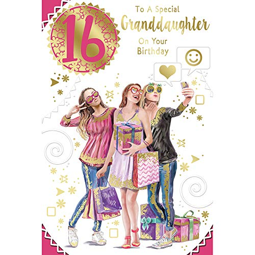 to a Special Granddaughter On Your 16th Birthday Celebrity Style Greeting Card