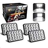 Best Headlights - 4PCS Partsam 4x6 LED Headlights Sealed Beam 6x4 Review