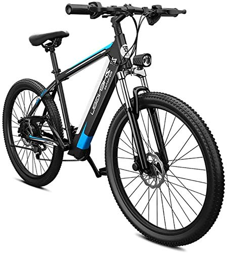 RDJM Ebikes 26' Ebikes for Adults Electric 27-Speed Mountain Bicycle 400W 48V Removable Lithium-Ion Battery, Dual Disc Brake, Comfortable Seat