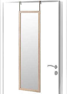 comprar comparacion Espejo de Puerta Beige nórdico de Madera de 125x35 cm - LOLAhome