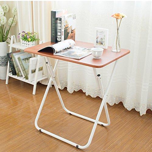 LJHA Table pliante Installation gratuite de la petite table d'appartement 2 couleurs disponibles 510 * 700mm table (Couleur : B)