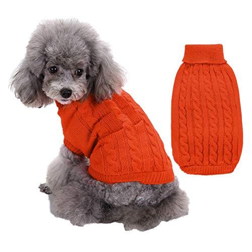 Sangrl Hundepullover für kleine Hund/Hundepullover Stricken,Katzenpullover ist dehnbar (XS-3XL,12 Farbes)