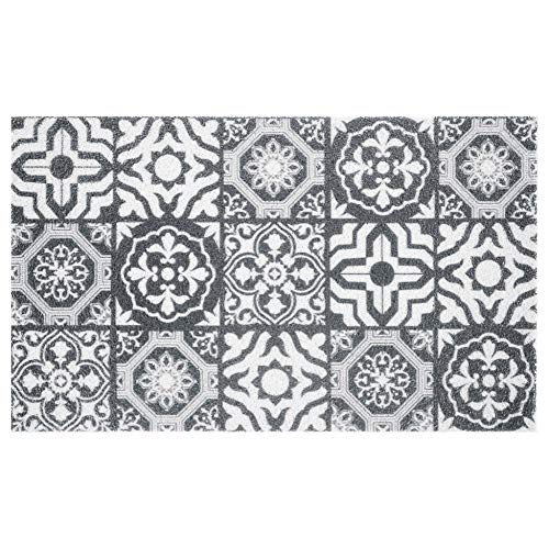 douceur d'intérieur tapis d'entree rectangle 45x75 cm pvc lisbonne