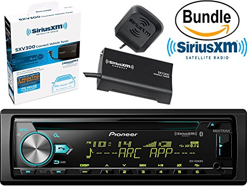 Pioneer DEH-X6800BS CD Receiver with Bluetooth Hands-Free Calling & Wireless Audio Streaming & SiriusXM SXV300V1 Tuner and Antenna (SiriusXM Value Bundle)