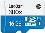 Lexar LSDMI16GBB1EU300A - Tarjeta de Memoria microSD de 16 GB (con hasta 45 MB/s, Clase 10 UHS-I, Velocidad de 300x)
