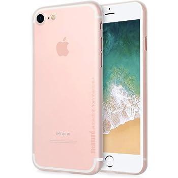 iPhone SE/iPhone 8/ iPhone7 ケース 0.3㎜の 最薄型 最軽量 memumi PP Case アイフォン8 保護カバー 指紋防止 手触り抜群 人気ケース·カバー (クリア. ホワイト)
